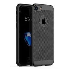 Handyhülle Hülle Kunststoff Schutzhülle Punkte Loch für Apple iPhone 7 Schwarz