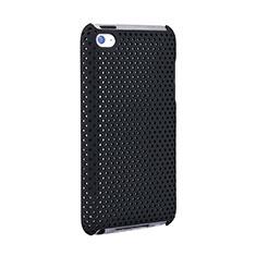 Handyhülle Hülle Kunststoff Schutzhülle Punkte Loch für Apple iPod Touch 4 Schwarz