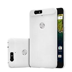 Handyhülle Hülle Kunststoff Schutzhülle Punkte Loch für Google Nexus 6P Weiß