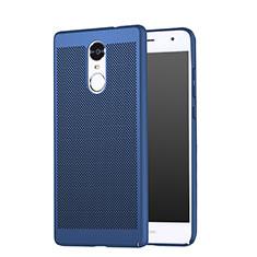 Handyhülle Hülle Kunststoff Schutzhülle Punkte Loch für Huawei Enjoy 6 Blau