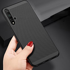 Handyhülle Hülle Kunststoff Schutzhülle Punkte Loch für Huawei Honor 20 Schwarz