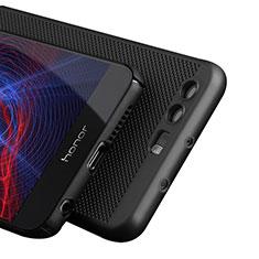 Handyhülle Hülle Kunststoff Schutzhülle Punkte Loch für Huawei Honor 8 Schwarz