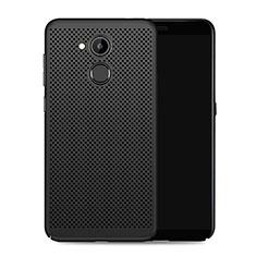 Handyhülle Hülle Kunststoff Schutzhülle Punkte Loch für Huawei Honor V9 Play Schwarz