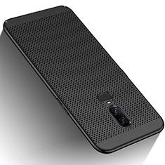 Handyhülle Hülle Kunststoff Schutzhülle Punkte Loch für OnePlus 6 Schwarz