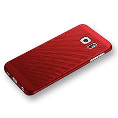 Handyhülle Hülle Kunststoff Schutzhülle Punkte Loch für Samsung Galaxy S6 Edge SM-G925 Rot
