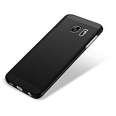 Handyhülle Hülle Kunststoff Schutzhülle Punkte Loch für Samsung Galaxy S7 Edge G935F Schwarz