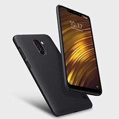 Handyhülle Hülle Kunststoff Schutzhülle Punkte Loch für Xiaomi Pocophone F1 Schwarz