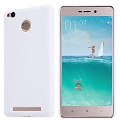 Handyhülle Hülle Kunststoff Schutzhülle Punkte Loch für Xiaomi Redmi 3 Pro Weiß