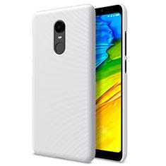 Handyhülle Hülle Kunststoff Schutzhülle Punkte Loch für Xiaomi Redmi 5 Plus Weiß