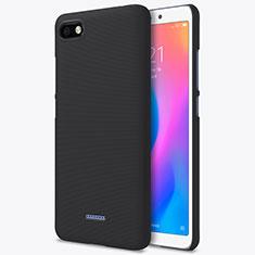 Handyhülle Hülle Kunststoff Schutzhülle Punkte Loch für Xiaomi Redmi 6A Schwarz