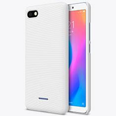 Handyhülle Hülle Kunststoff Schutzhülle Punkte Loch für Xiaomi Redmi 6A Weiß