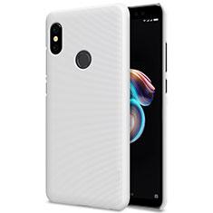 Handyhülle Hülle Kunststoff Schutzhülle Punkte Loch für Xiaomi Redmi Note 5 Pro Weiß