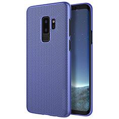Handyhülle Hülle Kunststoff Schutzhülle Punkte Loch M01 für Samsung Galaxy S9 Plus Blau