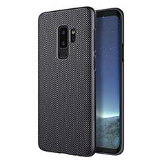 Handyhülle Hülle Kunststoff Schutzhülle Punkte Loch M01 für Samsung Galaxy S9 Plus Schwarz