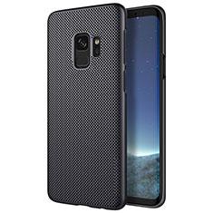 Handyhülle Hülle Kunststoff Schutzhülle Punkte Loch M01 für Samsung Galaxy S9 Schwarz