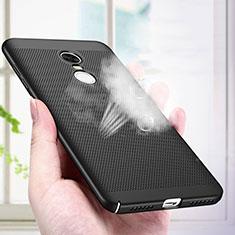 Handyhülle Hülle Kunststoff Schutzhülle Punkte Loch R01 für Xiaomi Redmi Note 4 Schwarz