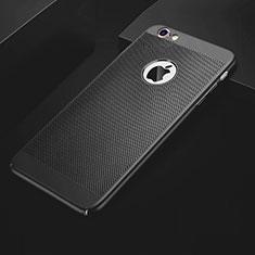 Handyhülle Hülle Kunststoff Schutzhülle Punkte Loch Tasche für Apple iPhone 6S Schwarz