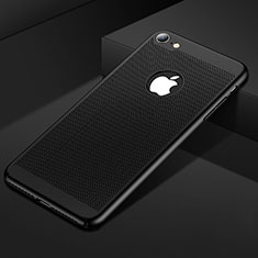 Handyhülle Hülle Kunststoff Schutzhülle Punkte Loch Tasche für Apple iPhone 8 Schwarz