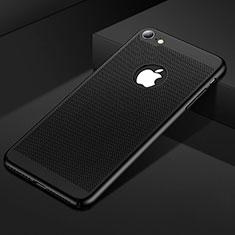 Handyhülle Hülle Kunststoff Schutzhülle Punkte Loch Tasche für Apple iPhone SE (2020) Schwarz