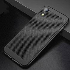 Handyhülle Hülle Kunststoff Schutzhülle Punkte Loch Tasche für Apple iPhone XR Schwarz