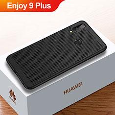 Handyhülle Hülle Kunststoff Schutzhülle Punkte Loch Tasche für Huawei Enjoy 9 Plus Schwarz