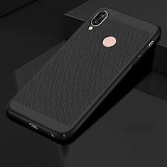 Handyhülle Hülle Kunststoff Schutzhülle Punkte Loch Tasche für Huawei Honor 10 Lite Schwarz