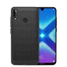 Handyhülle Hülle Kunststoff Schutzhülle Punkte Loch Tasche für Huawei Honor 8X Schwarz
