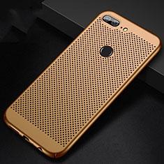 Handyhülle Hülle Kunststoff Schutzhülle Punkte Loch Tasche für Huawei Honor 9 Lite Gold