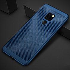 Handyhülle Hülle Kunststoff Schutzhülle Punkte Loch Tasche für Huawei Mate 20 Blau