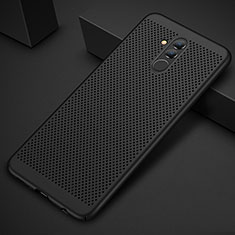 Handyhülle Hülle Kunststoff Schutzhülle Punkte Loch Tasche für Huawei Mate 20 Lite Schwarz