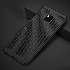 Handyhülle Hülle Kunststoff Schutzhülle Punkte Loch Tasche für Huawei Mate 20 Pro Schwarz