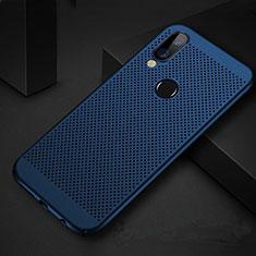 Handyhülle Hülle Kunststoff Schutzhülle Punkte Loch Tasche für Huawei P Smart+ Plus Blau