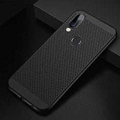 Handyhülle Hülle Kunststoff Schutzhülle Punkte Loch Tasche für Huawei P20 Lite Schwarz