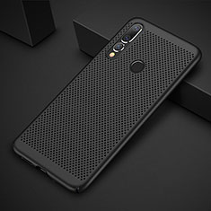 Handyhülle Hülle Kunststoff Schutzhülle Punkte Loch Tasche für Huawei P30 Lite Schwarz