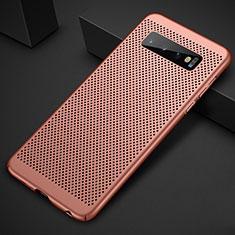 Handyhülle Hülle Kunststoff Schutzhülle Punkte Loch Tasche für Samsung Galaxy S10 Plus Rosegold