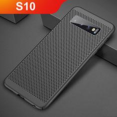 Handyhülle Hülle Kunststoff Schutzhülle Punkte Loch Tasche für Samsung Galaxy S10 Schwarz