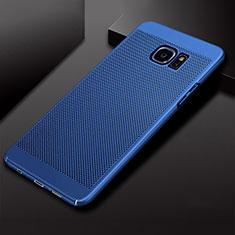 Handyhülle Hülle Kunststoff Schutzhülle Punkte Loch Tasche für Samsung Galaxy S7 Edge G935F Blau