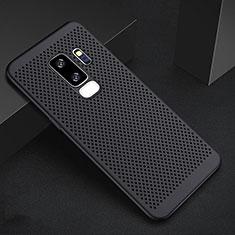 Handyhülle Hülle Kunststoff Schutzhülle Punkte Loch Tasche für Samsung Galaxy S9 Plus Schwarz
