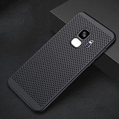 Handyhülle Hülle Kunststoff Schutzhülle Punkte Loch Tasche für Samsung Galaxy S9 Schwarz