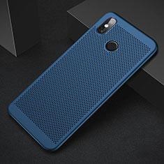 Handyhülle Hülle Kunststoff Schutzhülle Punkte Loch Tasche für Xiaomi Mi 8 Blau