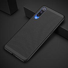 Handyhülle Hülle Kunststoff Schutzhülle Punkte Loch Tasche für Xiaomi Mi 9 Pro Schwarz
