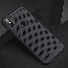 Handyhülle Hülle Kunststoff Schutzhülle Punkte Loch Tasche für Xiaomi Mi A2 Lite Schwarz