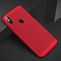 Handyhülle Hülle Kunststoff Schutzhülle Punkte Loch Tasche für Xiaomi Mi A2 Rot
