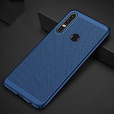 Handyhülle Hülle Kunststoff Schutzhülle Punkte Loch Tasche P01 für Huawei Nova 4e Blau