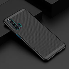 Handyhülle Hülle Kunststoff Schutzhülle Punkte Loch Tasche W02 für Huawei Honor 20 Pro Schwarz