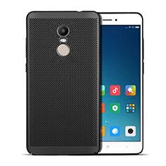 Handyhülle Hülle Kunststoff Schutzhülle Punkte Loch W01 für Xiaomi Redmi Note 4 Standard Edition Schwarz