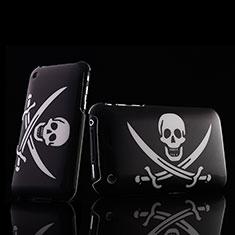 Handyhülle Hülle Kunststoff Schutzhülle Schädel für Apple iPhone 3G 3GS Schwarz