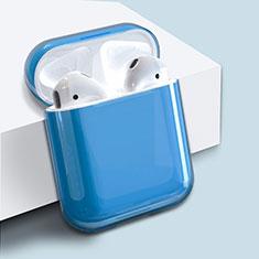 Handyhülle Hülle Kunststoff Schutzhülle Tasche für AirPods Ladekoffer Matt Blau