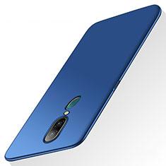 Handyhülle Hülle Kunststoff Schutzhülle Tasche Matt für Oppo A9 Blau