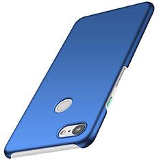Handyhülle Hülle Kunststoff Schutzhülle Tasche Matt M01 für Google Pixel 3 Blau